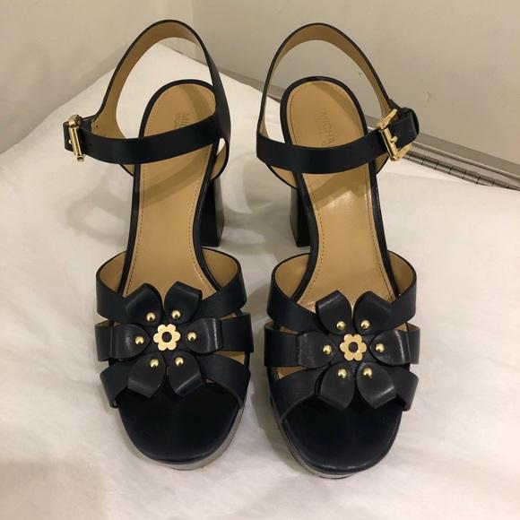 d8d8ee3633b Tara Floral Embellished Leather Platform Sandal. M 5b3ab34403087c3778afc830